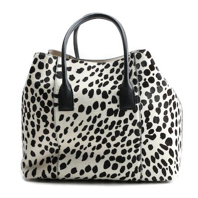 Aerin Dalmatian Dyed Calf Hair Tote Bag with Susan Lucci Signed Shopper Bag