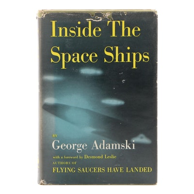 "Signed First Edition ""Inside The Space Ships"" by George Adamski, 1955"