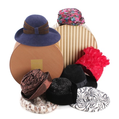 Schiaparelli, Frank Olive, Eric Javits and Other Hats and Hat Boxes