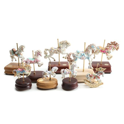 The San Francisco Music Co. Porcelain Carousel Collection of Music Boxes