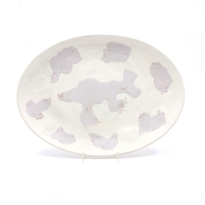 January Marx Knoop Art Pottery Platter
