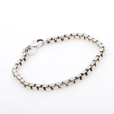 """Tiffany & Co. """"Venetian Link"""" Sterling Silver Chain Bracelet"""