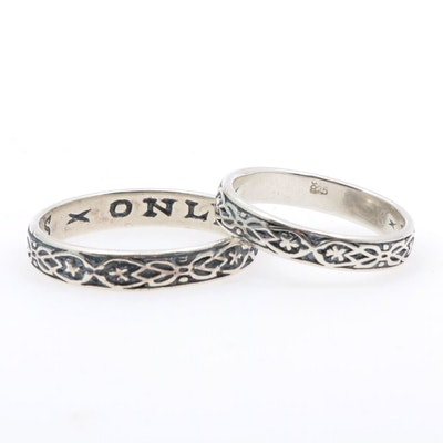 Sterling Silver Knot Motif Rings