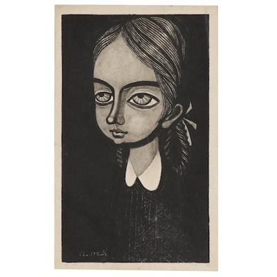 """Shuzo Ikeda Woodblock Print """"No. 467"""", 1961"""