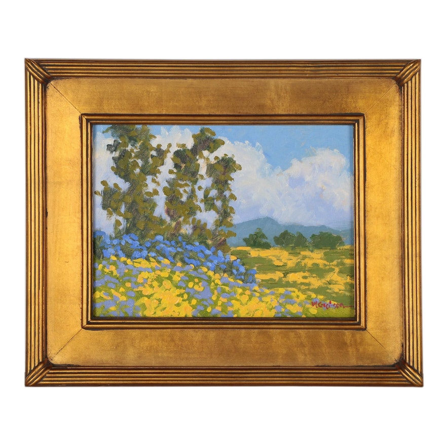 "Marc Graison California Impressionistic Oil Painting ""Spring Valley"""