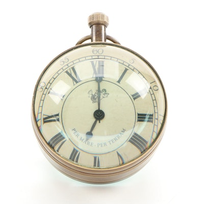 """Authentic Models """"Eye of Time"""" Glass Orb Clock"""