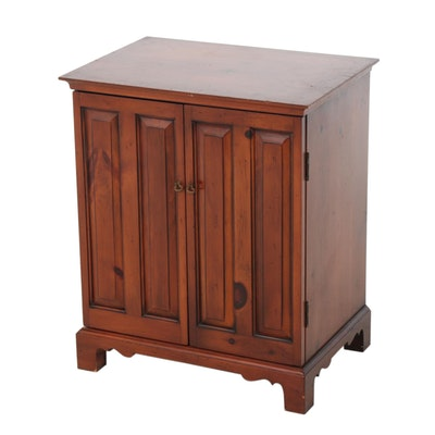 Chippendale Style Pine Side Cabinet, Late 20th Century