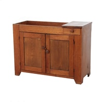 American Primitive Walnut Dry Sink, Mid to Late 19th Century