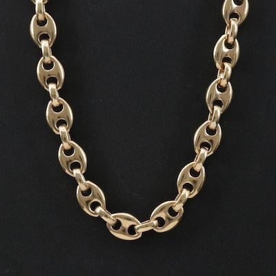 Sterling Silver Mariner Chain Necklace