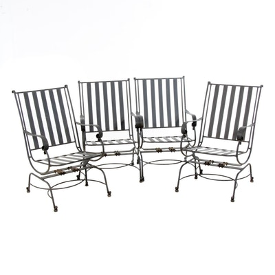 Painted Cast Iron Patio Rocking Chairs