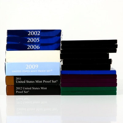 Nineteen U.S. Proof Sets Including 1976,1994, and Key Date 2012