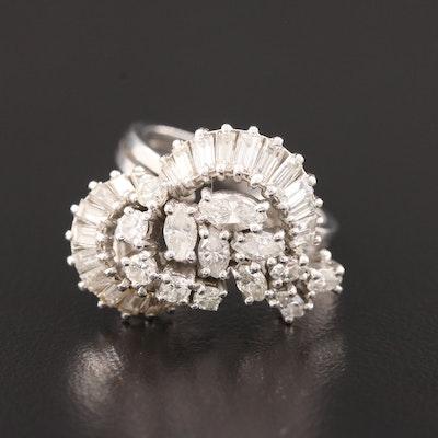 Platinum 2.00 CTW Diamond Ring