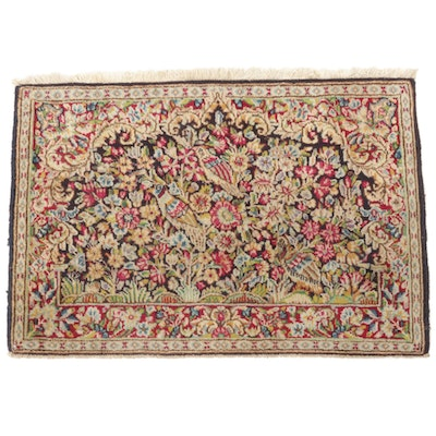 2'2 x 3'0 Hand-Knotted Persian Lavar Pictorial Rug, 1940s
