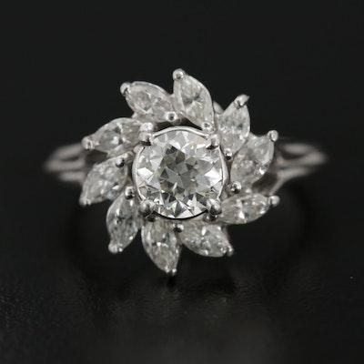 Platinum 1.64 CTW Diamond Ring