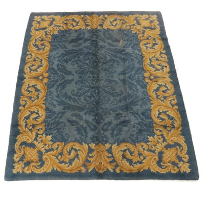 6'7 x 8'1 Hand-Knotted European Savonnerie Rug, 1930s