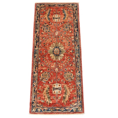 2'1 x 5'1 Hand-Knotted Afghani Persian Tabriz Runner, 2010s