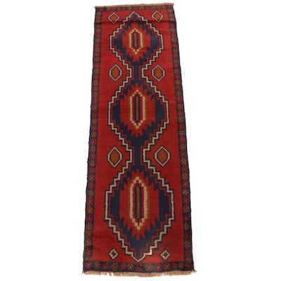 2'4 x 7'7 Hand-Knotted Afghani Baluch Runner