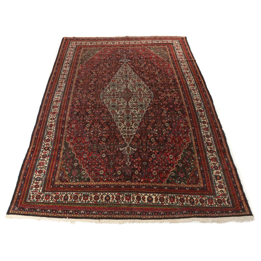 8'11 x 13'2 Hand-Knotted Persian Malayer Rug, 1960s