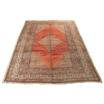 10'1 x 13'6 Hand-Knotted Persian Dorokhsh Khorasan Room Size Rug, 1890s