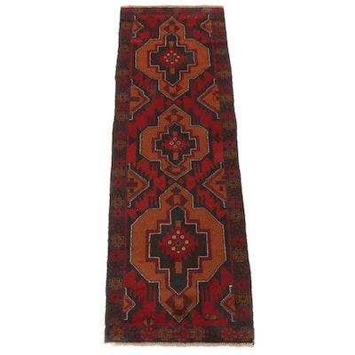 2'6 x 7'11 Hand-Knotted Afghani Baluch Runner