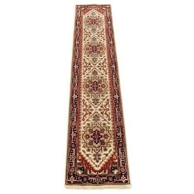 2'4 x 11'11 Hand-Knotted Indo-Persian Heriz Serapi Runner