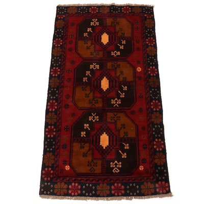 3'5 x 6'7 Hand-Knotted Afghani Baluch Rug