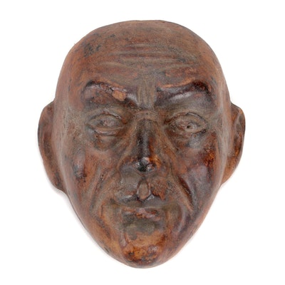 French Terracotta Architectural Head Sculpture