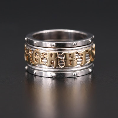 "Stephen Webster Sterling Silver ""No Regrets"" Spinner Ring"