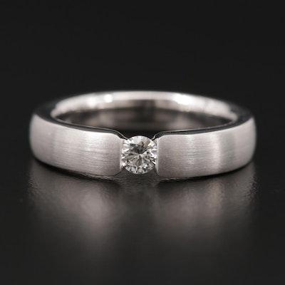 14K White Gold 0.23 CT Diamond Ring