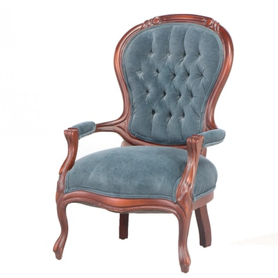 Victorian Style Mahogany Armchair, Mid to Late 20th Century
