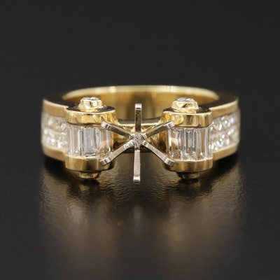 14K and 18K Gold With 1.40 CTW Diamond Semi-Mount Ring