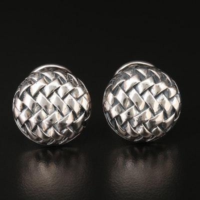 Scott Kay Sterling Silver Basketweave Cufflinks