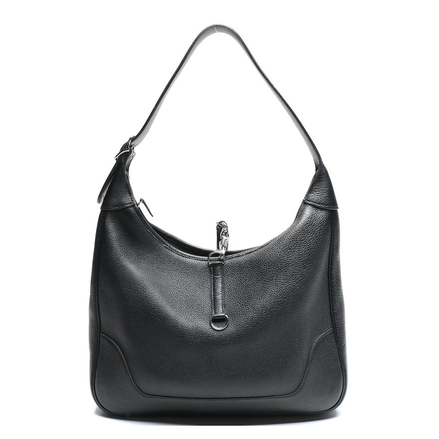 Hermès Trim II Bag in Black Togo Leather