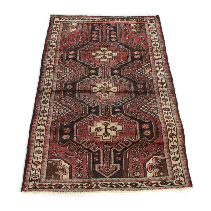 3'3 x 5'2 Hand-Knotted Persian Yalameh Wool Rug
