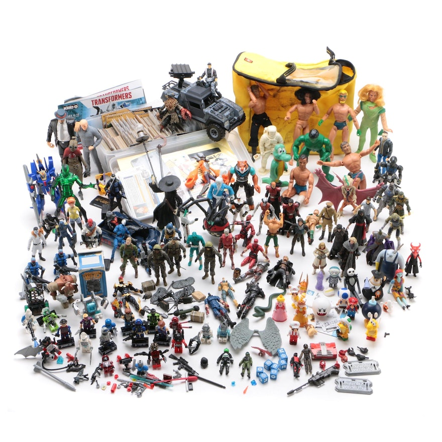 Action Figures Including Transformers Donkey Kong, Star Wars, GI Joe, and More