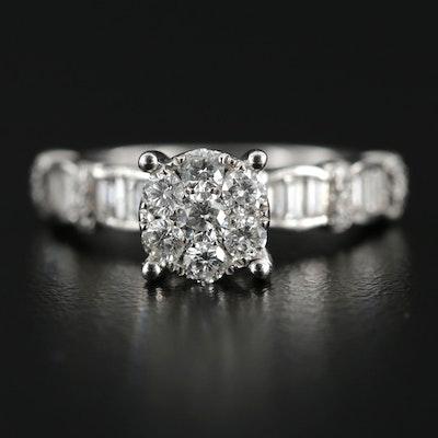 18K White Gold 1.26 CTW Diamond Ring