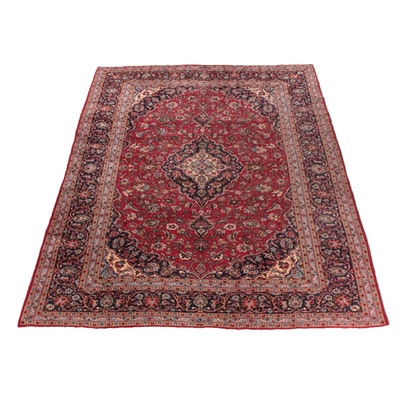 9'6 x 12'10 Hand-Knotted Persian Mashhad Wool Room Sized Rug