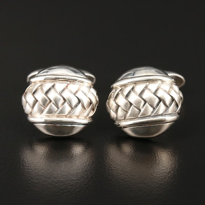 Scott Kay Sterling Silver Basketweave Cufflinks