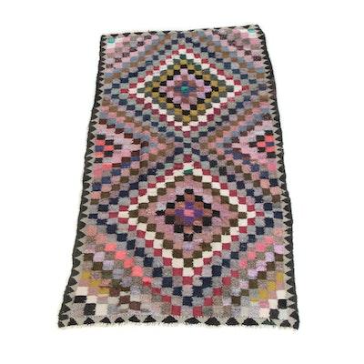 4'10 x 9'5 Handwoven Persian Berber Style Wool Rug