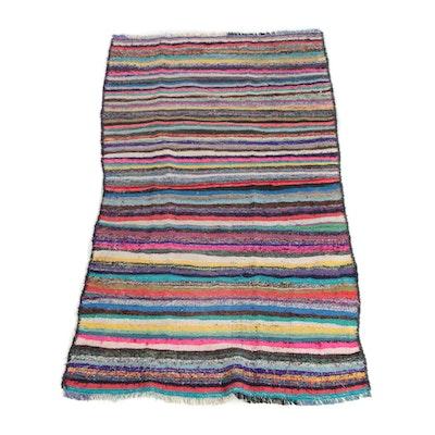 4'2 x 7'11 Handwoven Persian Berber Style Wool Long Rug