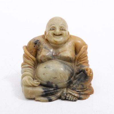 Carved Soapstone Budai Figure