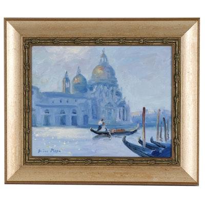 "Nino Pippa Oil Painting ""Venice - La Salute"""