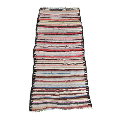 3'3 x 8'6 Handwoven Persian Berber Style Wool Long Rug