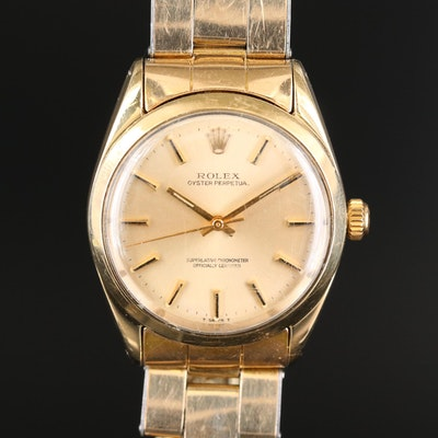 Vintage Rolex Oyster Perpetual Gold Shell Automatic Wristwatch, 1969