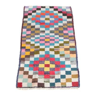 4'9 x 8'3 Handwoven Persian Berber Style Wool Long Rug