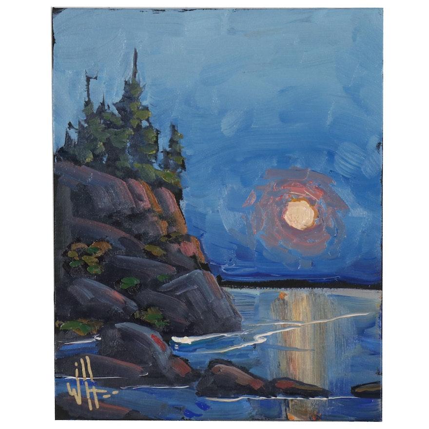 William Hawkins American Landscape Oil Painting