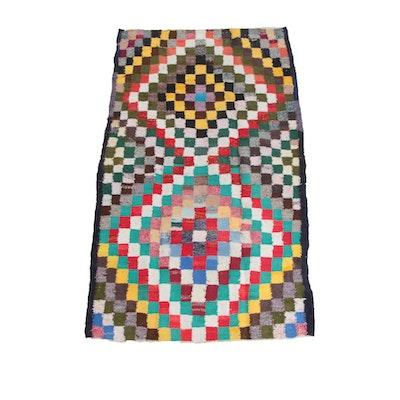 4'2 x 7'9 Handwoven Persian Berber Style Wool Long Rug