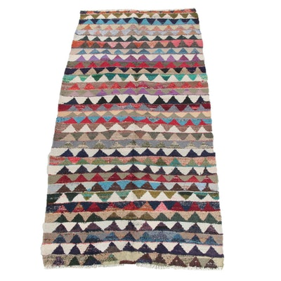 4'9 x 10'7 Handwoven Persian Berber Style Wool Long Rug