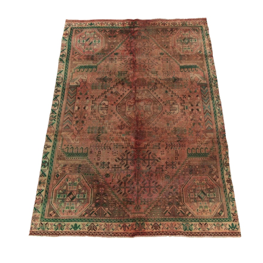 6'0 x 9'5 Hand-Knotted Persian Ardabil Wool Rug
