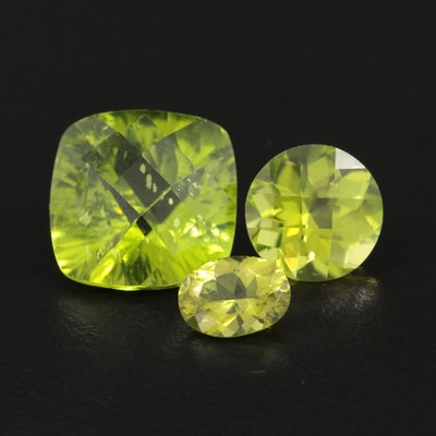 Loose 13.36 CTW Peridot Gemstones